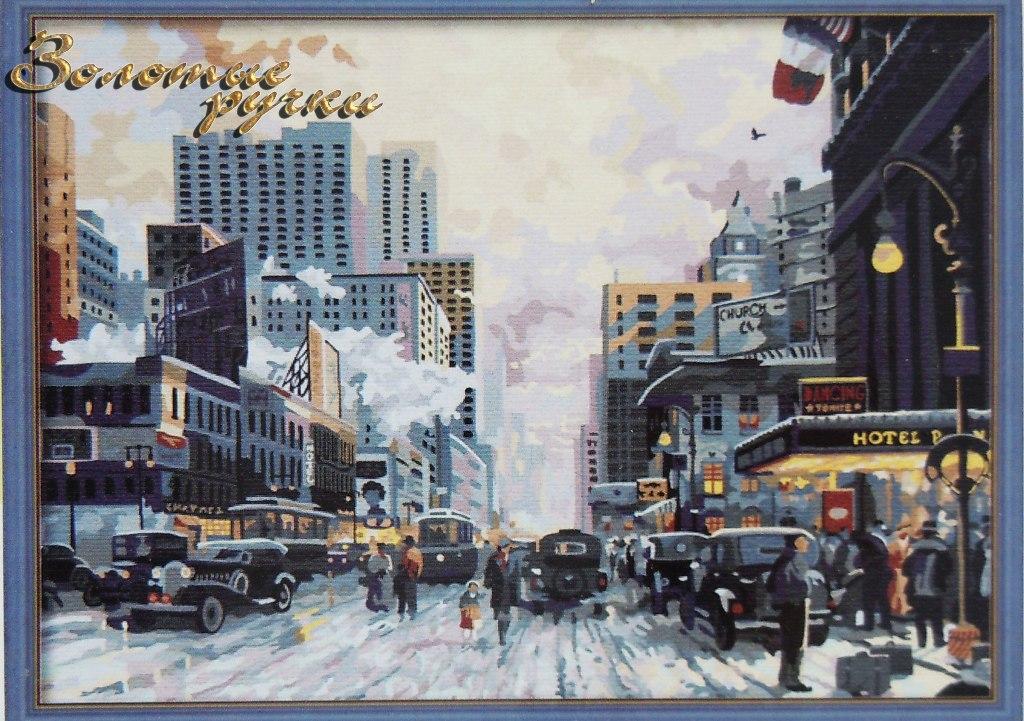 Алмазная вышивка нью-йорк